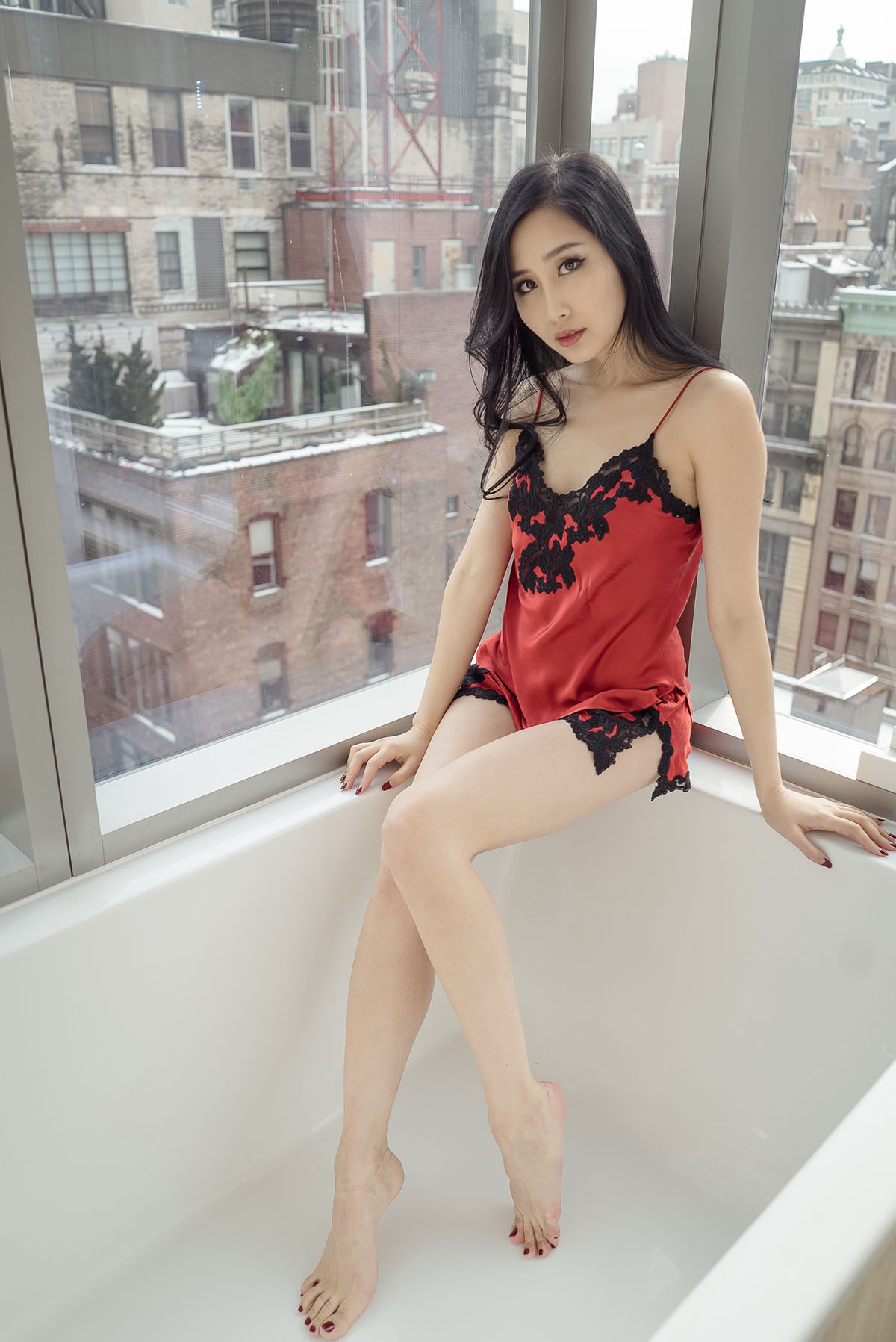 of leather and lace blog la perla silk bath at one madison